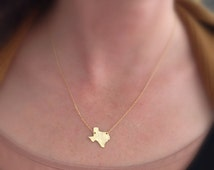 Texas Necklace // Gold or Silver Plated Texas Necklace // State Necklace // Lone Star Necklace