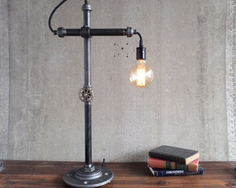 Table Lamp - Industrial Lighting - Task Lamp - Office Lamp - Bare Edison