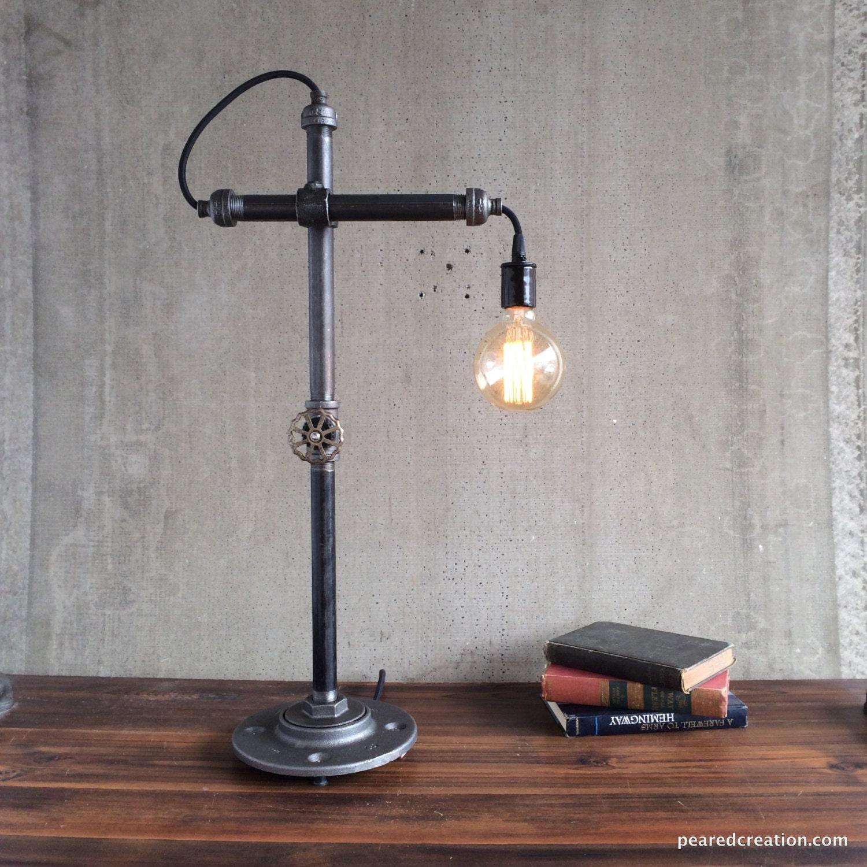 Table lamp industrial lighting task lamp office lamp for Industrial design table lamps