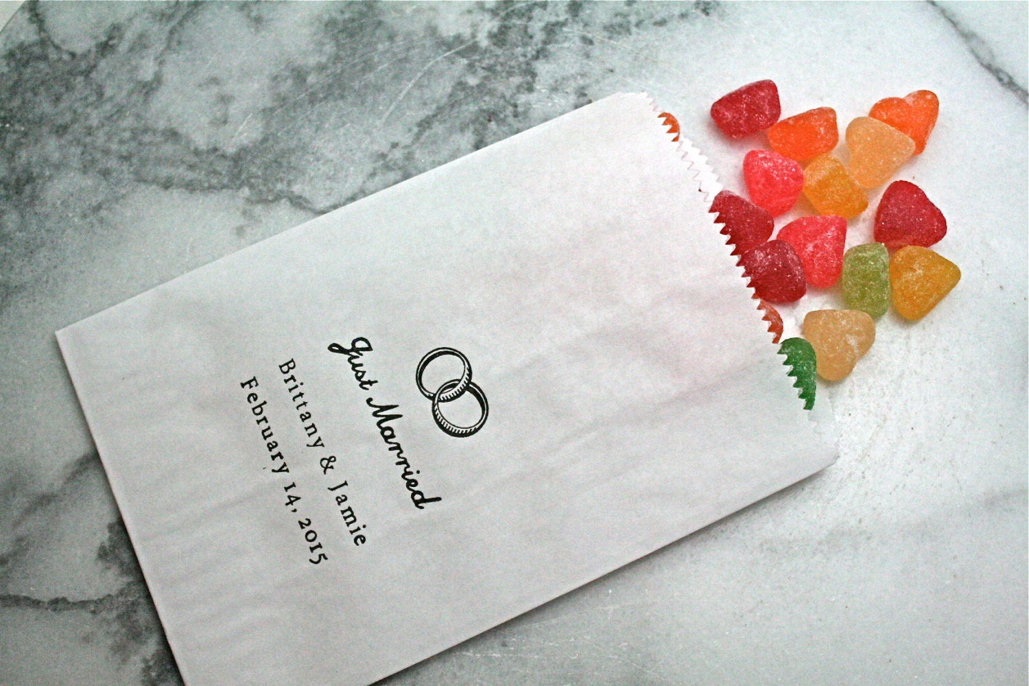 personalized candy buffet bags 50 wedding candy buffet bags