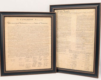 Framed Constitution & Declaration of Independence Set  - Free Shipping!