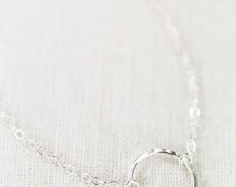 Hakumele bracelet - sterling silver bracelet, silver circle bracelet, delicate silver bracelet, bridesmaid gift, wedding jewelry, hawaii