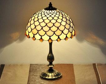 glass lamp shade etsy. Black Bedroom Furniture Sets. Home Design Ideas