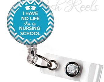 Retractable ID Badge Reel - Nursing School Badge Reel ID - Nurse Badge Reel - 15 Colors - 0540