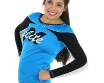 Leopard Big Cheer Bow Blue Black Cheetah Girls Accessories Ponytail Holder Cheerleader Competitive Competition School Spirit Team Discount