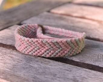 Pink Chevron Friendship Bracelet