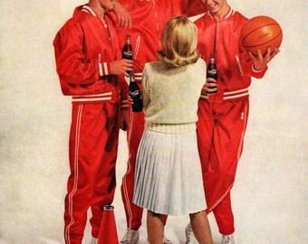 1963 Coca Cola Ad - Wall Art - Home Decor - Kitchen -  Coke - Pop - Retro Vintage Food & Drink Advertising