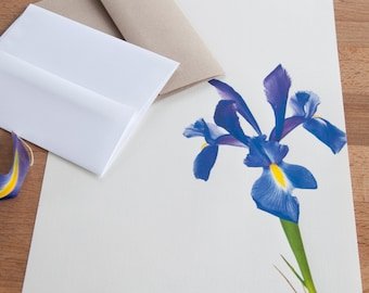 Letter Writing Paper -Iris - Letter Stationery, Gift under 20