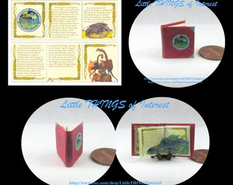 Miniature Book -- The COMPLETE Book of DRAGONS Miniature Book Dollhouse 1:12 Scale Readable Illustrated Book