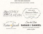 Photoshop Save the Date overlays wedding photo cards - psd templates