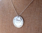 For This Child I Have Prayed Necklace, Personalized Mother's Necklace, Hand Stamped Metal Jewelry, Mom Necklace, Personalized Charm Necklace