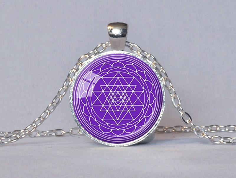 sri yantra pendant sacred geometry jewelry sri by