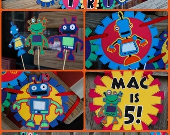 Robot Birthday Decorations Package