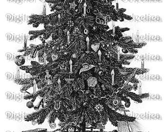 Transparent Christmas Tree. Christmas Tree PNG. Christmas Tree JPG. Vintage Christmas. Christmas Scrapbook. Christmas Images. No. 0164