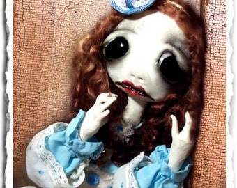 Gothic Art Doll OOAK - Creepy Cute