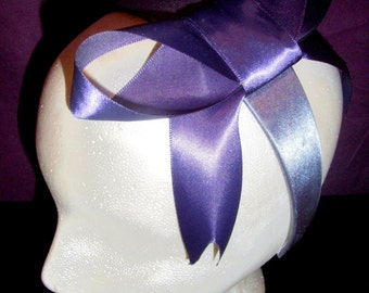 The Blair, From The Queen B Collection-Large Blue Bow Headband