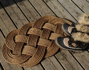 Nautical Decor -  Front Door Welcome Rope Rug - (31 x 18)