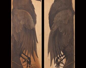 Huginn and Muninn Diptych print