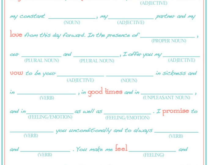 write vows