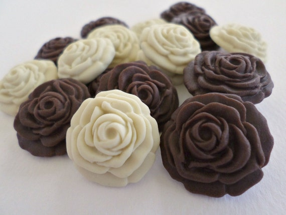 50 zucker zucker blume essbare fondant cupcake topper. Black Bedroom Furniture Sets. Home Design Ideas