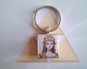 ZELDA - Legend of Zelda Twilight Princess Scrabble Tile Keychain