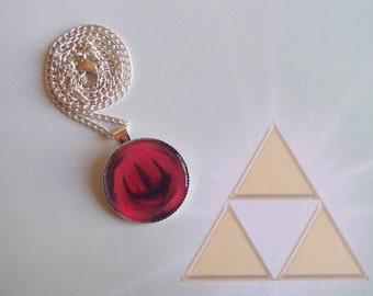 FIRE MEDALLION - Legend of Zelda Round Pendant