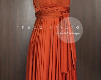 Burnt Orange Bridesmaid Dress Convertible Dress Infinity Dress Multiway Dress Wrap Dress Wedding Dress Cocktail Dress Twist Dress Prom Dress