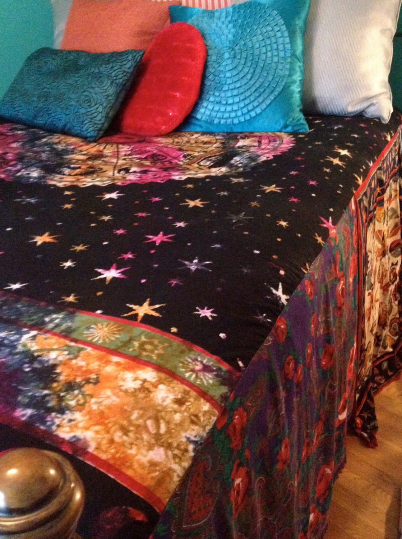 Gypsy Boho Bedspread Zodiac Bedding Blanket Bohemian