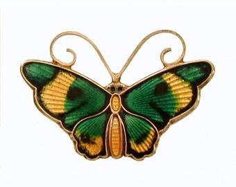 Sterling Butterfly Pin David Andersen Sterling Enamel Butterfly Pin Norway, Sterling Butterfly Enamel, Norway Andersen Butterfly Pin Vintage