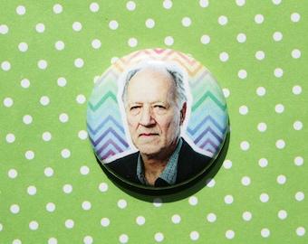 Werner Herzog- One Inch Pinback Button Magnet