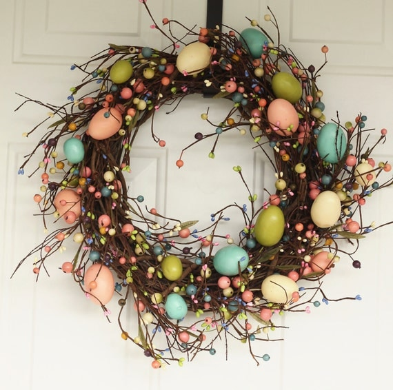 18 Spring Decor Ideas: Spring Wreath Easter Wreath Easter Decor By SimplebyBrooke
