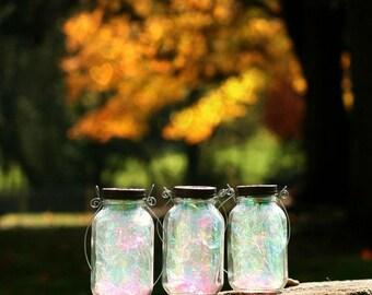 Fairy Lantern - Mason Jar Decor - Fall Decor - Garden Decor - Fairy Realm - Mason Jar Solar Light - Outdoor Lighting - Garden Lighting