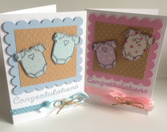 Handmade 'Baby' Girl or Boy congratulations card *super cute* keep sake *