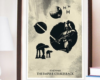 Star Wars The Empire Strikes Back Poster - Different sizes - Fan Art Geek Print boy's room