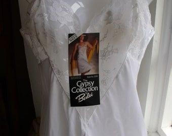 VintageUK10 US 6 EU 38 deadstock   Berlei Gypsy white petticoat UK 34 inch length 38 inch