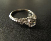 One of our Best Sellers; Vintage-Inspired Engagement Ring, Made to Order