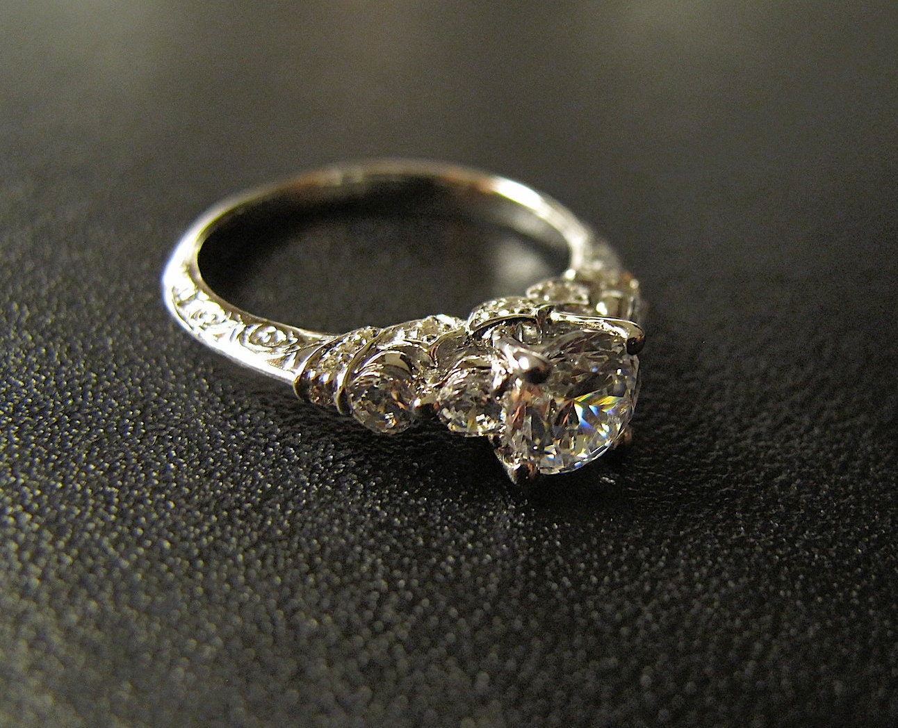 One of our Best Sellers Vintage-Inspired Engagement Ring