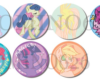MLP Buttons: Assorted Styles