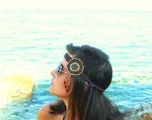 Indian festival headband suede bohemian medallion headband festival hairband accessorie ethnic style headwear