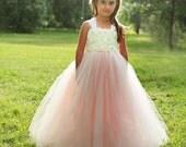 Blush Flower Girl Dress…Vintage Pageant Dress...Custom Flower girl Dress…Vintage Junior Bridesmaid