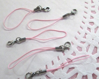 15 Pink Cell Phone Straps with clasp, #859