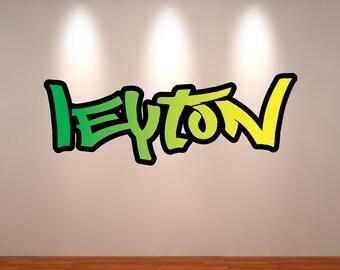 Name Wall Art personalised custom graffiti name wall art stickers decor for