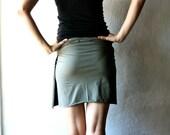 Wrap skirt, Cotton skirt, Olive skirt, Jersey skirt, Womens clothes, Womens skirt, Pencil skirt, Maternity skirt, plus size, Mini skirt