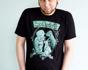 Gentlemen Dinosaurs Mens Tshirt, Dinosaur Shirt, Funny Tshirt, Science Shirt, Eclipse Shirt - The Gentlemen Dinosaurs Stargazing Society