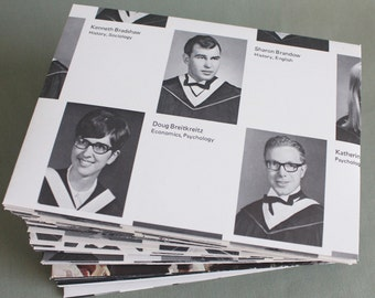 Recycled Yearbook Envelopes / Class of 69 University / College Yearbook Envelopes, 4.5 x 6, set of 10 by PrairiePeasant