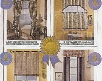 Easy SHADES VALANCES CORNICE Sewing Pattern Retired 2 Hour Window Shade Treatments 8659