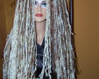 Dread Hairfalls, Wigfalls, Dread Wig, Dreads, Dread Wig falls, Fake Hair, Gothic Yarn Wig, Headband, Highlite, Lowlite, Big Wig, Long Wig,