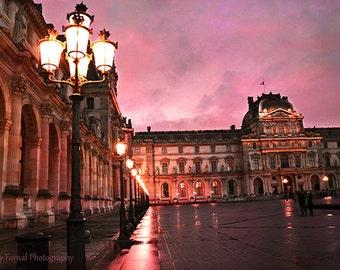 Paris Photography, Louvre Museum Night Print, Paris Sparkling Lanterns, Paris Louvre Wall Art, Louvre Museum Photos, Paris Fine Art Prints