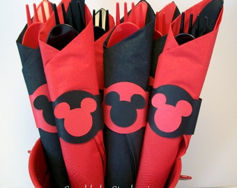 Mickey Mouse Napkin Rings - Set of 12+