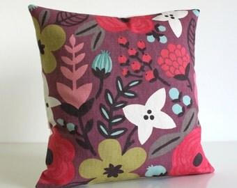 Floral Pillow Cover, Decorative Pillows, Pillowcase, Linen Cotton Pillows, Cushion Cover, Pillow Sham - Potpourri Sherbert